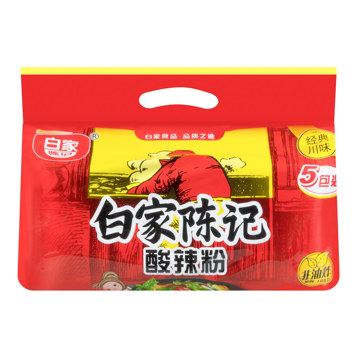 BAIJIA Instant Vermicelli 5packs -Spicy and Sour Flavor 525g