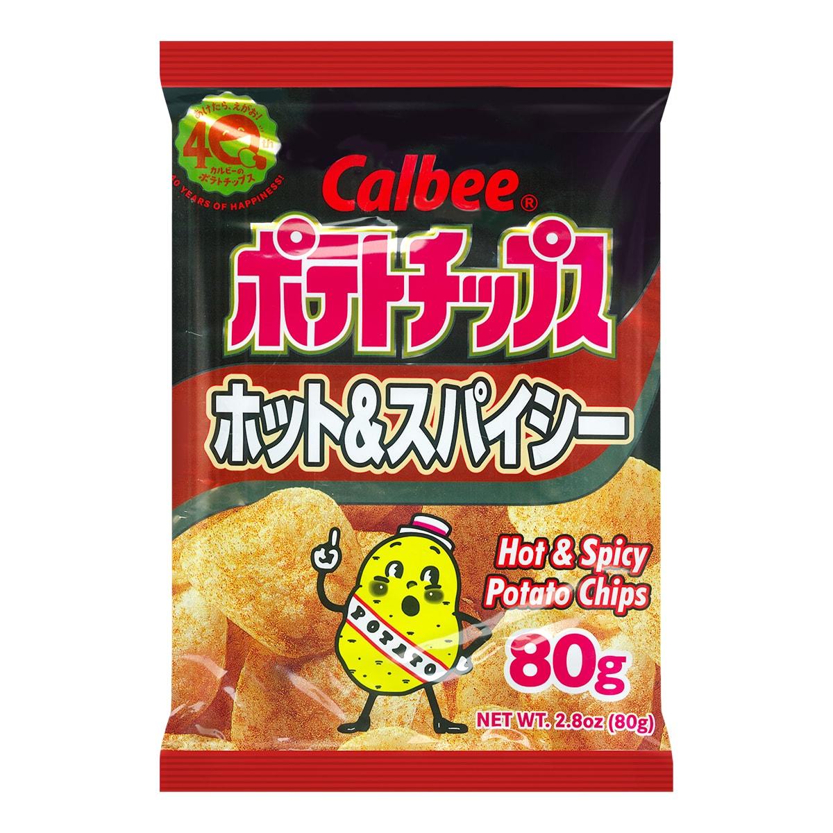 日本CALBEE卡乐B 热浪薯片 辣味 80g