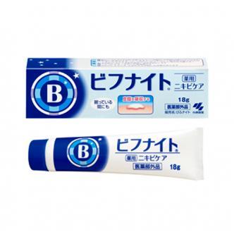日本小林制药 夜用特效修复粉刺暗疮膏 18g
