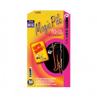 TRAIN MAGIC PILE Tights Black with Belly Warmer 150D M-L
