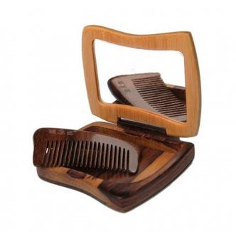 TAN'S Comb & Mirror Hollow Out The Face Gift Set