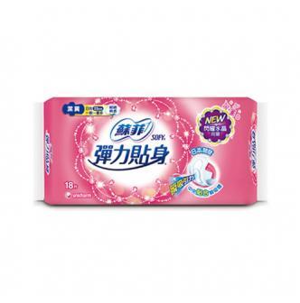 日本UNICHARM苏菲 弹力贴身卫生巾 日用型 23cm 18片入