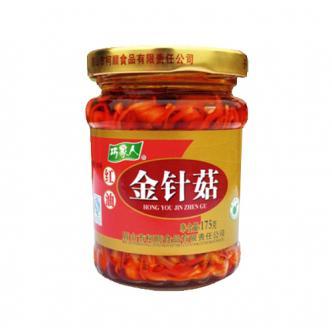 四川巧家人红油金针菇175g