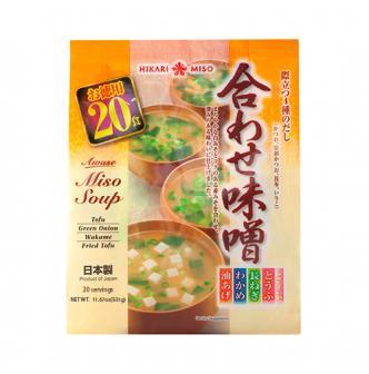 HIKARIMISO Miso Soup Four Flavors Mix 20pc