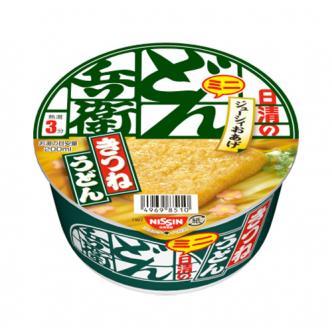 日本NISSIN日清 兵卫 迷你全麦素鸡乌冬方便面 42g