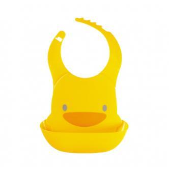台湾PIYOPIYO黄色小鸭 婴幼儿防水围兜 4M+