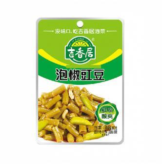吉香居 即食小菜 酸香鲜脆豇豆 泡椒 88g 四川特产