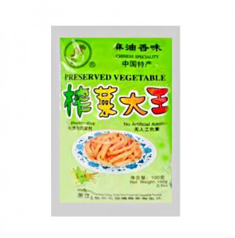 DA XING Preserved Vegetable Pickled Radish Shredded Sesame Oil Flavor 100g