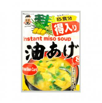 SHINSYU-ICHI Instant Miso Soup Fried Oiled Tofu Flavor 8bags