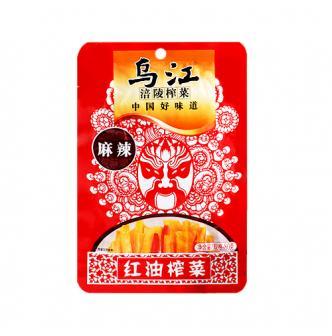 乌江涪陵榨菜 麻辣红油榨菜 80g