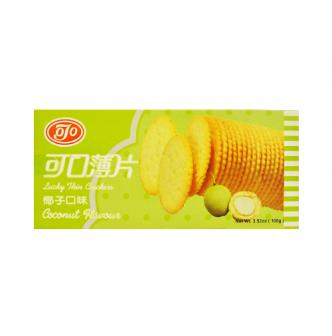 台湾可口 薄片饼干 椰子口味 100g