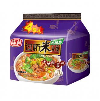 陈村 非油炸方便米线 老坛酸菜过桥米线 4包入