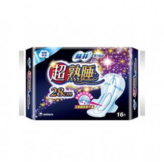日本UNICHARM苏菲 超熟睡卫生巾 夜用型 28cm 16片入