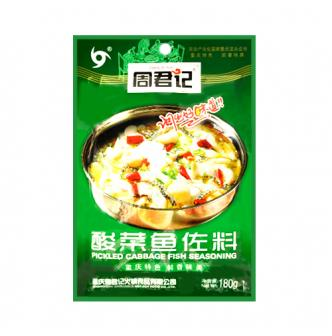 ZHOUJUNJI Pickled Cabbage Fish Seasoning 180g