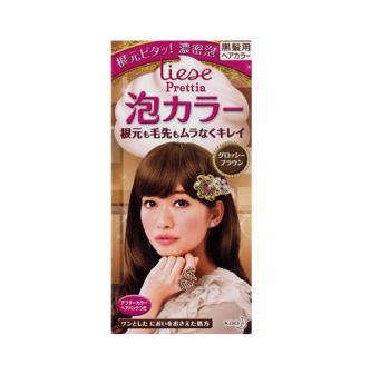 KAO LIESE PRETTIA Bubble Hair Dye Glossy Brown 1set