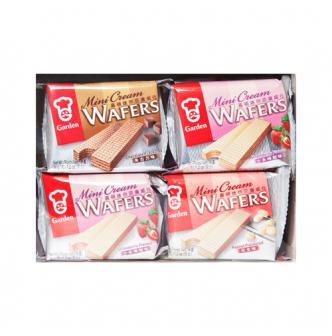 GARDEN Mini Cream Wafers Peanuts+Strawberry+Chocolate Flavor  8bags
