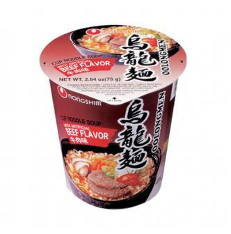 韩国NONGSHIM农心 3分钟泡食乌龙杯面 美味牛肉味 75g