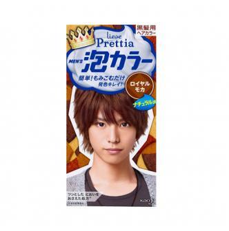 日本KAO花王 LIESE PRETTIA 男士泡沫染发剂 #深摩卡色 单组入 COSME大赏第一位