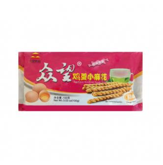 ZHONGWANG Egg Flavor Mini-Fried Dough Twist 100g