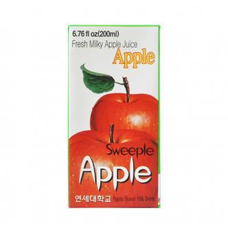 韩国YONSEI延世牌 新鲜牛奶果汁饮料 苹果味 200ml
