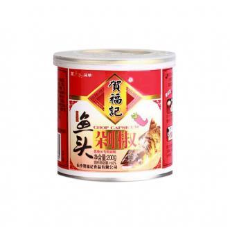 贺福记 鱼头红剁椒 罐装 200g