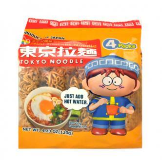 日本东京拉面 迷你一口着味泡面 鸡肉味 4包入