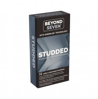 Adult toy OKAMOTO BEYOND SEVEN Studded Condom 12 Pack