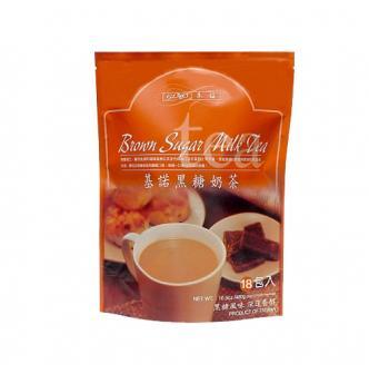 台湾基诺 香醇黑糖奶茶 18包入