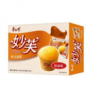 康师傅 妙芙 欧式含馅蛋糕 奶油味 192g