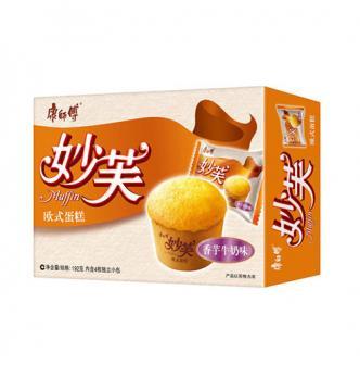 康师傅 妙芙 欧式含馅蛋糕 香芋牛奶味 192g