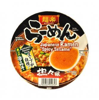 日本MENRAKU面乐 速食拉面 担担面风味 碗装 97g