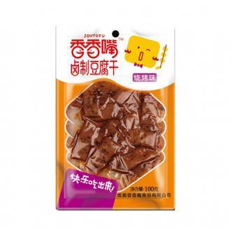 香香嘴 卤制豆腐干 烧烤味 100g 四川特色零食