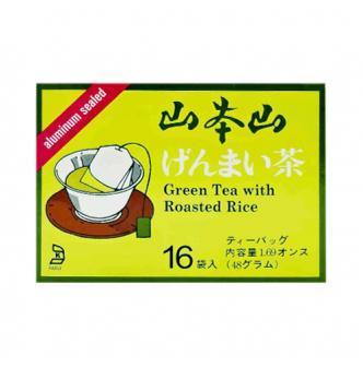 日本YAMAMOTOYAMA山本山 玄米茶茶包 16包入