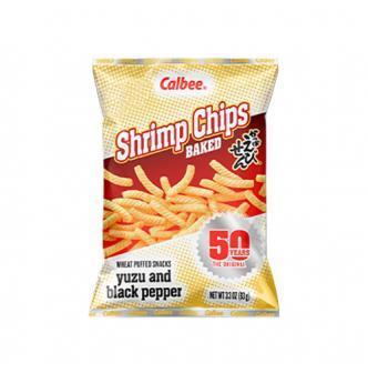 日本CALBEE卡乐B 黑胡椒虾条 93g