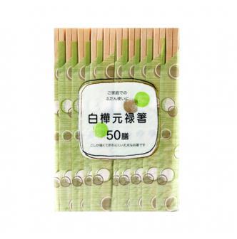 日本大和 白桦元禄一次性方便筷子 50双入