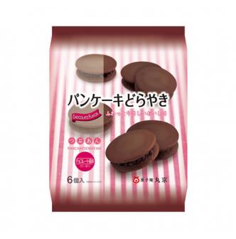 日本丸京果子庵 松饼新味觉铜锣烧 巧克力味 6枚入