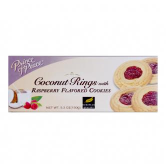 PRINCE OF PEACE Coconut Rings with Raspberry Flavored Cookies 150g