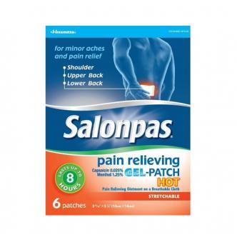 日本SALONPAS撒隆巴斯 肩部背部啫喱热感消炎镇痛弹性贴 6片入