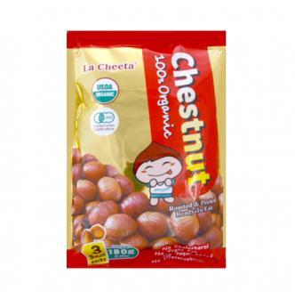 日本LA CHEETA 纯天然有机种植甜板栗 3包独立装 180g