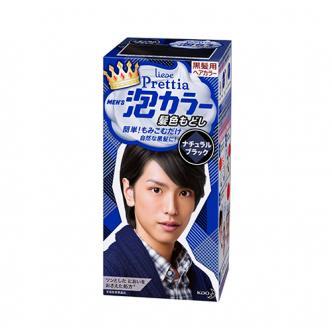 日本KAO花王 LIESE PRETTIA 泡沫染发剂 #自然黑色 男士专用 1組入 COSME大赏第一位