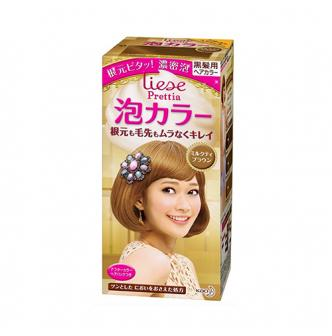 日本KAO花王 LIESE PRETTIA 泡沫染发剂 #咖啡奶茶棕 1組入 COSME大赏第一位