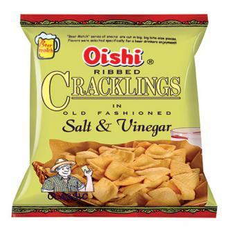 OISHI上好佳 经典格纹玉米片 盐醋口味 50g