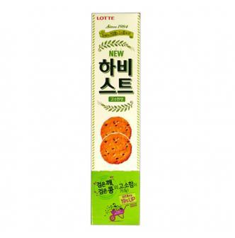 韩国LOTTE乐天 黑芝麻饼干 薄脆鸡蛋饼 营养早餐 100g