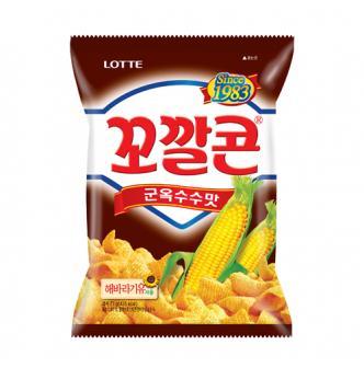 LOTTE BBQ Flavor Corn Snack 77g