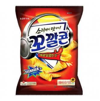 LOTTE Sweet Spicy Corn Snack 155g