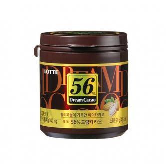 韩国LOTTE乐天 56%高纯度黑巧克力豆 90g
