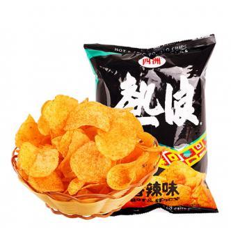 四洲 热浪薯片 香辣味 50g