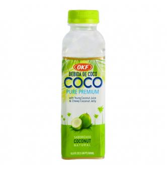 韩国OKF 天然椰子汁 椰果果肉添加 500ml 品牌销量第一