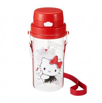 OSK Hello Kitty One Press Water Bottle 370ml (Strap Included)