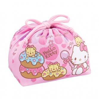 OSK Hello Kitty Drawstring Cotton Lunch Bag